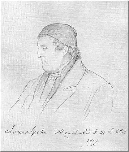 Porträtzeichnung Louis Spohr