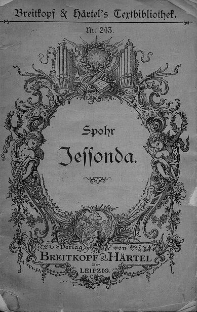 "Deckblatt Spohrs Oper ""Jessonda"""