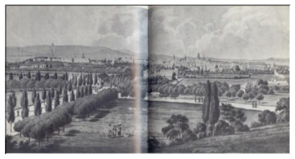 Die kurhessische Haupt- und Residenzstadt Kassel um 1820