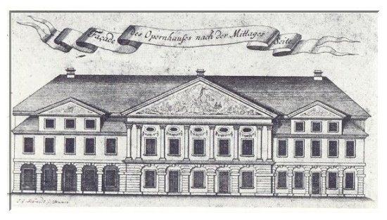 Das Braunschweiger Opernhaus. Spohr wirkte hier als Herzoglicher Kammermusikus bei den zweiten Violinen