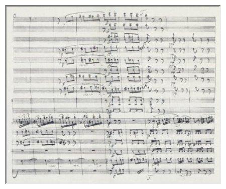 Autographe Partitur des siebenten Violinkonzerts e-moll, op. 38. Die 1814 in wien entstandene Komposition ist Spohrs Meisterwerk in dieser Gattung