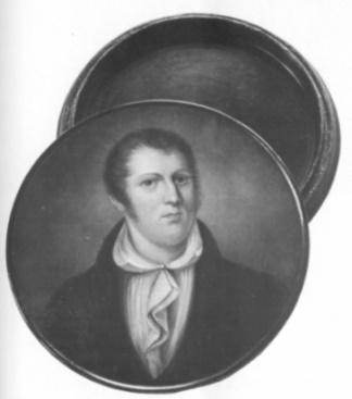 Nach 1820 brachte die Stobwassersche Lackdosenfabrik in Braunschweig Behältnisse mit Porträts von Spohr, Paganini und anderen in den Handel und trug dadurch wesentlich zur Popularität der Künstler bei. Die Miniatur geht auf ein Spohr-Porträt von Lorenz Grünbaum (um 1814) zurück.