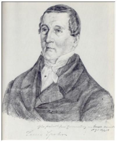 1853 zeichnete Spohrs Schüler Joseph Mosenthal in New York ein Porträt seines Lehrers aus dem Gedächtnis