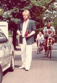 Als stolzer Westbesuch in Leipzig (1988)